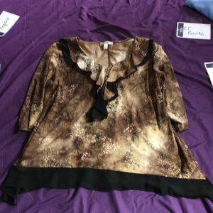 Dress barn 1X blouse